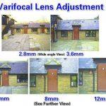 Afstand voorbeelden van een varifocale cctv bewakingscamera