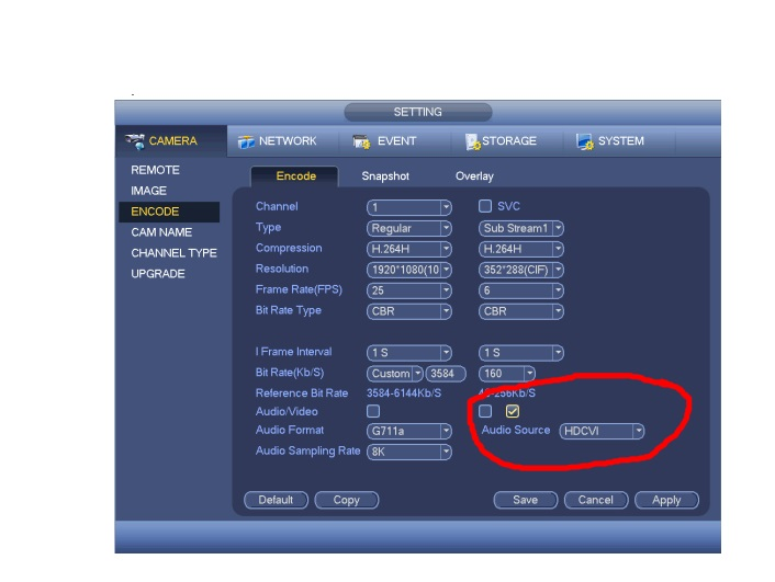 Activeren audio in menu